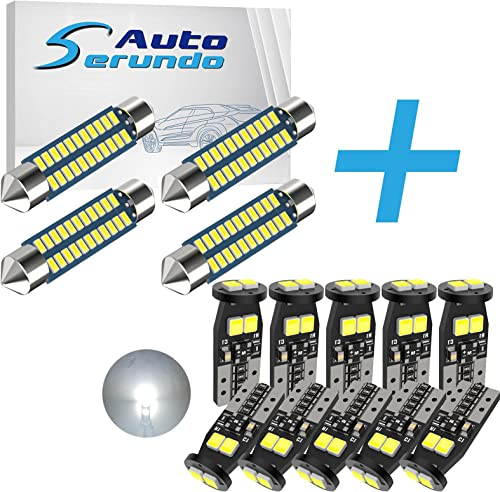 wholesale Serundo Auto 4pcs 42mm new arrival 578 LED Bulbs + 10pcs 194 LED Bulb 168 2825 W5W T10 LED Bulbs for Car high quality Dome Map Door Courtesy Trunk Parking License Plate Lights outlet sale