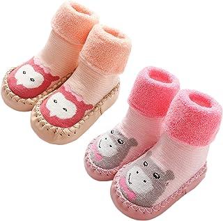 Adorel, Calcetines Antideslizantes Termicos para Bebé 2 Pares