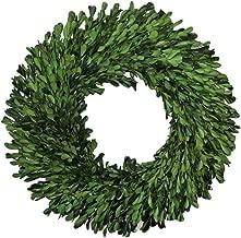 Flora Decor Preserved Garden Boxwood Wreath 14