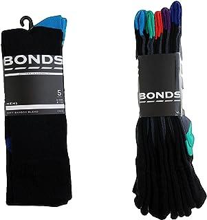 5 Pack X Bonds Business Socks Mens Bamboo Black Crew Socks Work Shoe Sizes 11-14