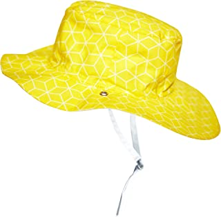 Ki ET LA - 婴儿幼童太阳帽 - UPF 50 + - 双面古巴太阳图案 - * 纯棉 黄色 2-4 years old