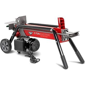 EARTHQUAKE 32228, 5-ton Electric Log Splitter, 1500-Watt Motor, Precision Pump Gears, Copper Motor Windings, Durable Transport Wheels