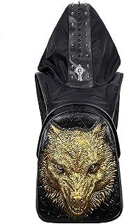 Pu Men's Backpack Hat Bag Outdoor Backpack 1 Piece,Gold