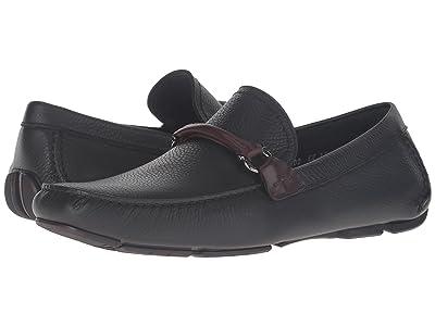 Salvatore Ferragamo Granprix Driving Loafer (Black) Men