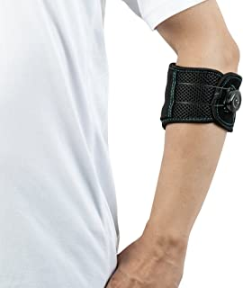 Elbow Strap Compression Brace, Tennis & Golfer's Elbow Pain Relief with Adjustable BOA Closure System for Both Men and Women-Medium