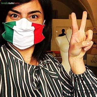 Mascherina Italia con Tasca Unisex Artigianale Anti-polvere Lavabile, Tessuti d'Alta Moda