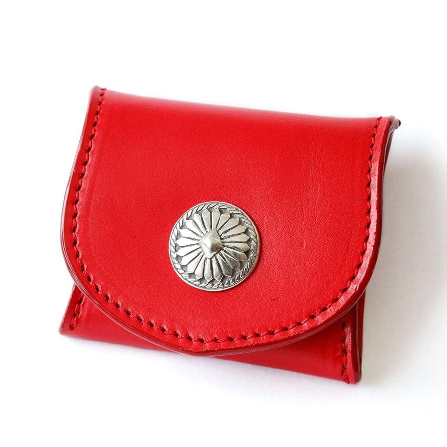 無礼にチケットマウスピースDaysArt(デイズアート)本革 サドルレザー レザーコインケース ミニコインケース 小銭入れ 財布 ボタン式 コンチョ