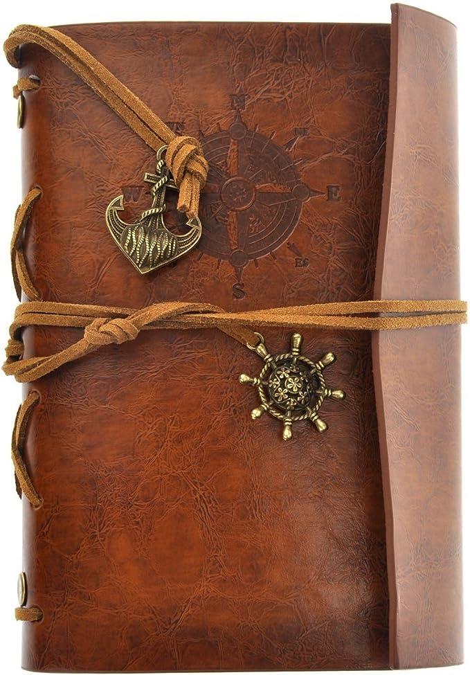 384 opinioni per LEORX Pirata depoca ancoraggio fogli volanti stringa associato bianco Notebook