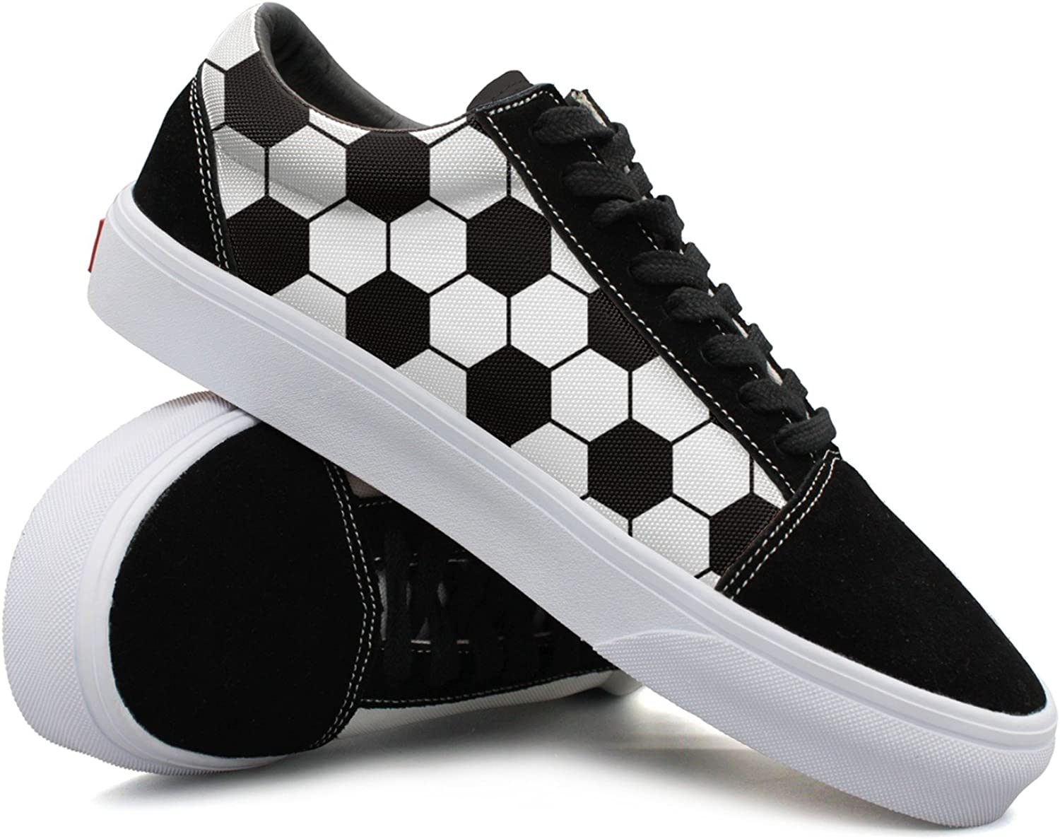 Womens Football Patterns Fashionable Canvas Sneakers