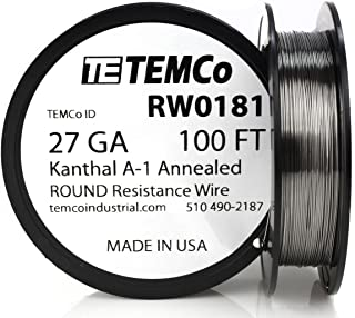 TEMCo Kanthal A1 wire 27 Gauge 100 Ft Resistance AWG A-1 ga