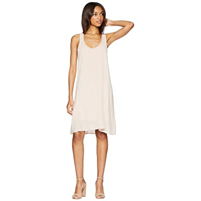 Splendid Rayon Voile Double Layer Dress (Pink Beige) Women