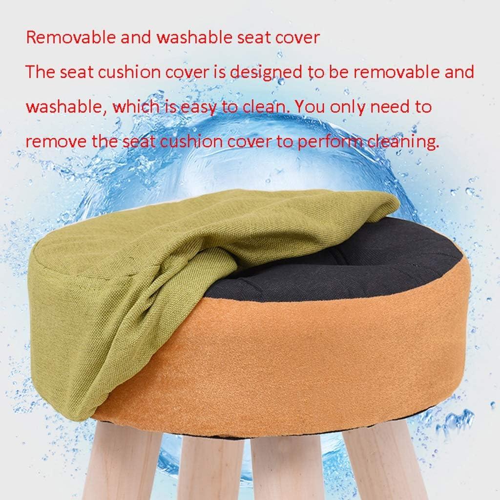 Tabouret en bois massif Mode Accueil adulte Salon Pier Salon Sofa Tabouret Tabouret Bas Creative Tissu Petit Banc CHAISE (Color : B) I