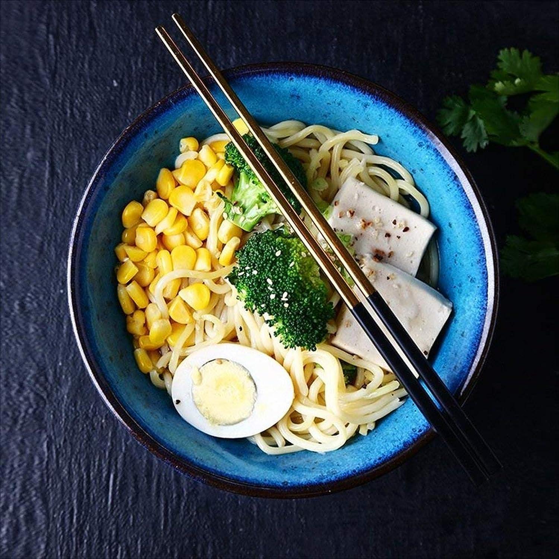 Bol à soupe Vaisselle Bol en céramique Creative American Bol à nouilles instantanées 7 pouces Bol à riz style occidental Bol de fruits salade soupe nouilles