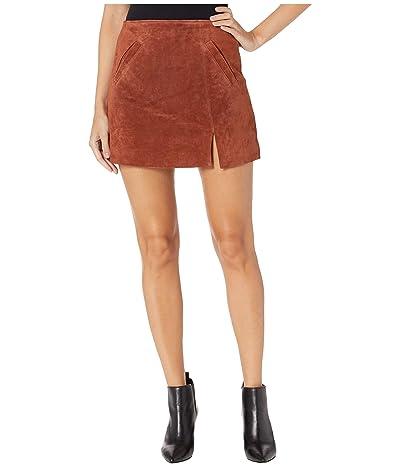 Blank NYC Suede Skirt w/ Side Slit (Dried Tobacco) Women