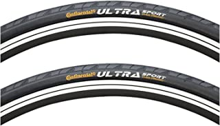 Continental Ultra Sport II Folding Black 700 x 23c Tire PAIR