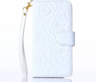 Fashion Handbag with Detachable Hand Strap Protection Shin for iphone6 case cover,Lovely Wallet Stand with Credit ID Card cash slot Holders (White)