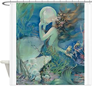 nuohaoshangmao Art Deco Art Nouveau Mermaid With Pearl Pin Up Sho - Decorative Fabric Shower Curtain (60