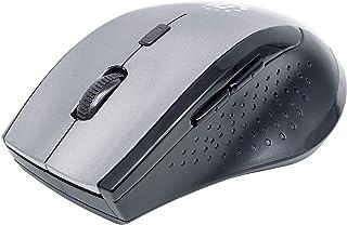 Manhattan Curve Wireless Mouse, Grey/Black, Adjustable DPI (800, 1200 or 1600dpi), 2.4Ghz (Up to 10m), USB, Optical, Five ...