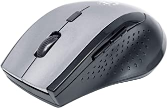 Manhattan Curve Wireless Optical Mouse - with Auto Power Management - for Laptops & Computers - Grey, 179379