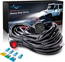MICTUNING HD 300w LED Light Bar Wiring Harness Fuse 40Amp Relay ON-OFF Waterproof Switch(1Lead)