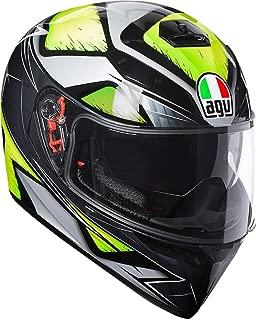 AGV Unisex-Adult Full Face K-3 SV Liquefy Motorcycle Helmet Yellow Small