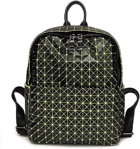 Rucksack, Silikon-Rucksack-Diamant-n nde Rucks e, die Reisetaschen-Studenten-Größe Taschen Falten (Farbe   Grün, Größe   EinheitsGröße)