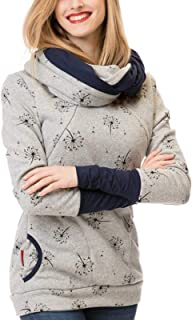 SUNNSEAN Sudadera Tops Blusa Mujeres Embarazadas Sudadera con Capucha Sweatershirt Maternidad Lactancia Materna Jersey de ...