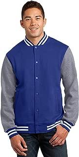 Men's Comfortable Fleece Letterman Jacket