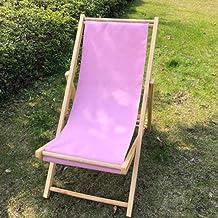 High-quality recliner Zero Gravity Chair Outdoor Wood Folding Deck Chair, Siesta Chaise Sun Lounger Collapsible Recliner Chair for Balcony Beach Garden Sun Lounger (Color : Pink)
