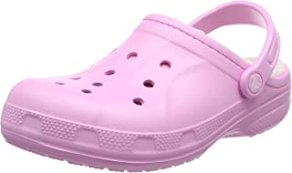 Crocs Unisex Adults' Crocswinterclg Clogs, Pink (Carnation/Oatmeal), 5 AU