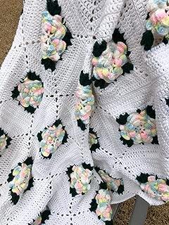Baby Flower Granny Afghan Throw Blanket