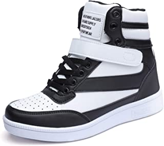 Catata Women's Hidden Heeled Sneakers High Top Sports Shoes Ankle Booties