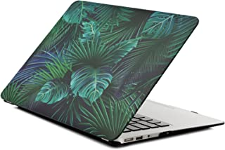 Hard Case for Apple MacBook Air 11 Inch Model A1465/A1370 - L2W Plastic Laptop Accessories Protective Shell Design Cover Plam Leave