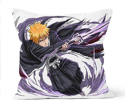 Bleach - Funda de almohada decorativa, firme, sofá, niños, funda de almohada para interior y exterior, 45 x 45 cm, diseño de anime