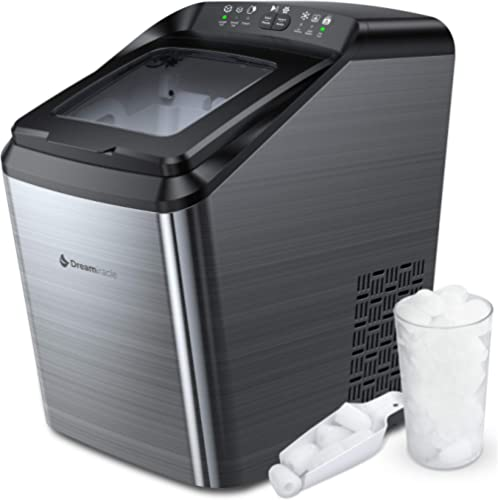Ice Maker Machine for Countertop, 33 lbs Bullet Ice Cube in 24H, 9 Ice Cubes Ready in 7-10 Minutes, 2.8L Ice Maker Ma...