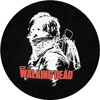 The Walking Dead ウォーキング・デッド 玄関マット 円形 おしゃれ バスマット 室内 屋外 水洗い 速乾吸水 抗菌防臭 耐摩耗 汚れ落とし 滑り止め 耐久性 玄関 風呂 浴室 台所 新築お祝い プレゼント 60*60*1.2