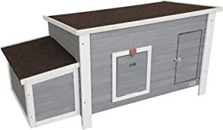 Petsfit Weatherproof Outdoor Chicken Coop with Nesting Box, Bottom Can be Removed for Easy Cleaning, 1-Year Warranty