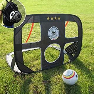 WISHOME 4FT 2 in 1 Pop up Soccer Goal Portable Kids...