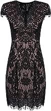 short cap sleeve lace dress