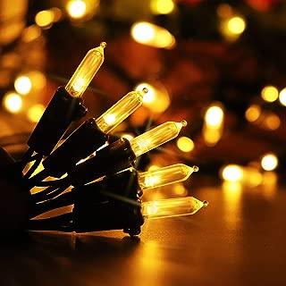 Aluvee Solar String Lights,Halloween Christmas 39 ft/100 LED Mini Lamp Waterproof Outdoor Garden Party Tree Xmas Decoration String Lighting (Warm White)