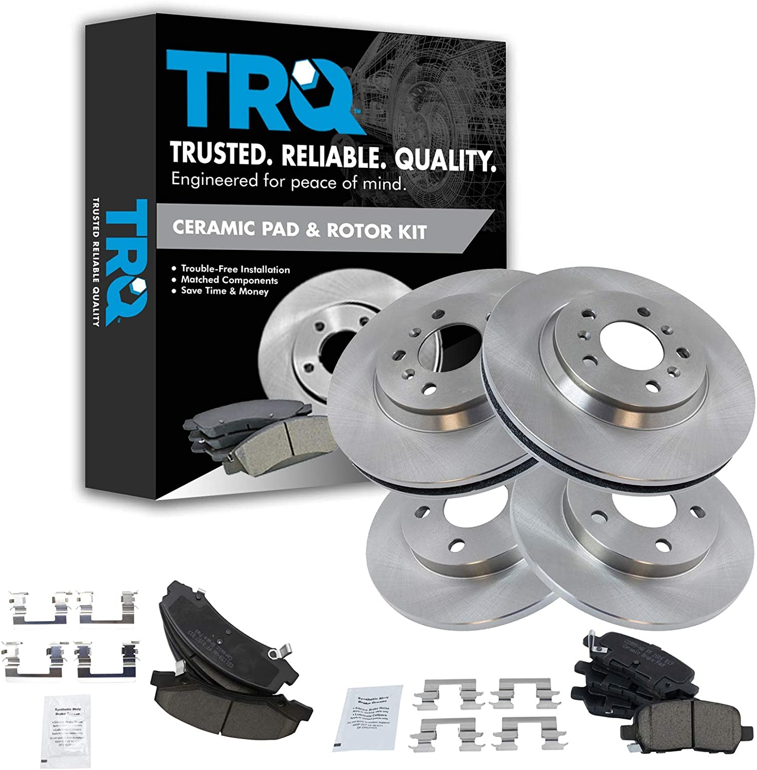 Front Rear Ceramic Brake Pad Rotor Clearance SALE! Limited time! Kit Chevy Impal Denver Mall 11-15 for