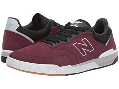 New Balance Numeric 913 (Burgundy/White) Skate Shoes