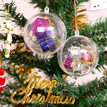 AGM 20Pcs Bolas de Navidad, Bola de Navidad Personalizada Transparente, Bola Colgante Navidad DIY para Decoración de Boda, Fiesta Festival,Bola, Navidad [Diámetro: 5 cm] (20 Piezas): Amazon.es: Hogar