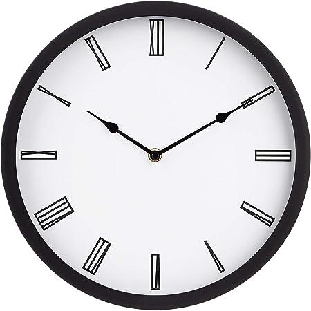 Amazon Basics 30.5 Roman Wall Clock, Black