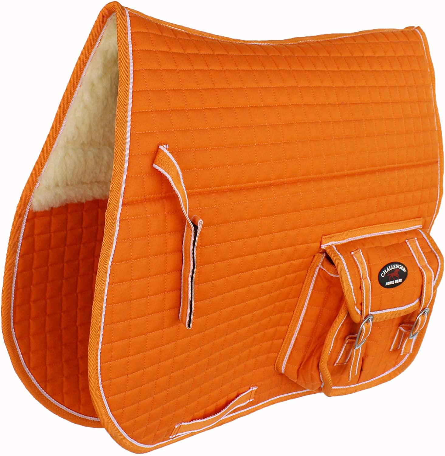 CHALLENGER Horse Quilted English Saddle Faux Cheap SALE Start Fu Half Ranking TOP9 PAD Pockets