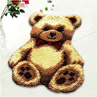 Lanrui Tapis de Plancher pour Motif Animal, Bricolage Home Décoration Crochet Crochet Kit de Tapis pour Enfants Adulte Acc...