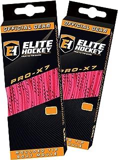 Elite Hockey Pro X7 Wide Cotton Hockey Skate Laces - Set of 2 Pairs