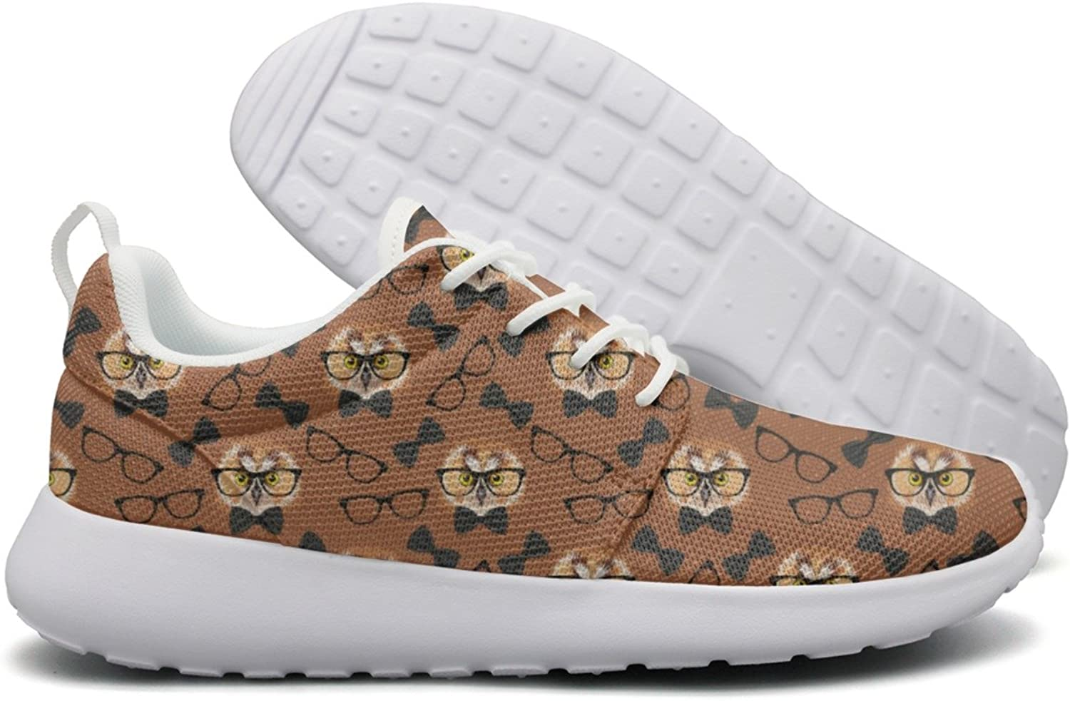 Owl With Glasses Woman's Camping Running shoes Cool colorful