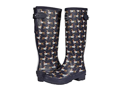 Joules Welly Print (Navy Sausage Dog) Women