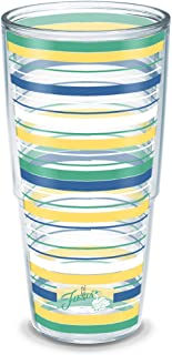 Tervis Fiesta Meadow Stripes Insulated Tumbler with Wrap, 24 oz, Clear